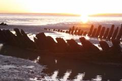 Brean Sands Holiday meet - wreck on beach